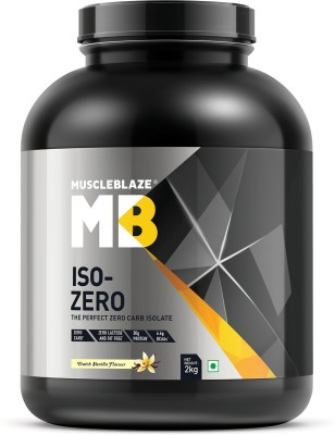MuscleBlaze Iso-Zero, Zero Carb 100% Whey Isolate Whey Protein(2 kg, Dutch Vanilla)