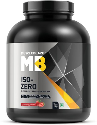 MuscleBlaze Zero Carb Iso-Zero Pure Whey Isolate Whey Protein(2 kg, Strawberry)