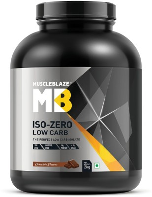 MuscleBlaze Iso zero, LOW CARB, Chocolate (2Kg) Whey Protein(2 kg, Chocolate)