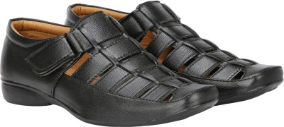 Kraasa Men Black Sandals