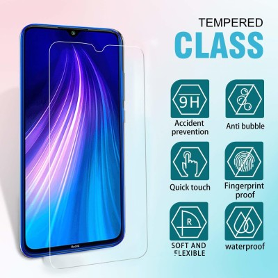MOBIRUSH Tempered Glass Guard for Xiaomi Redmi Note 8 Pro(Pack of 1)