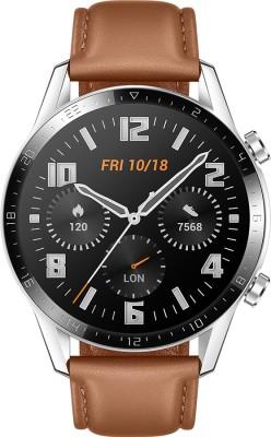 Huawei Watch GT * (46 mm) Pebble Brown Smartwatch(Brown Strap Regular)