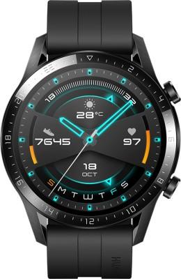 Huawei Watch GT * (46 mm) Matte Black Smartwatch(Black Strap Regular)