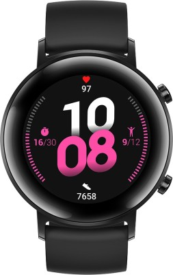 Huawei Watch GT * (42 mm) Night Black Smartwatch(Black Strap Regular)