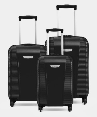 Metronaut S03-3 COMBO SET (28+24+20) Cabin & Check-in Luggage - 28 inch  (Black)