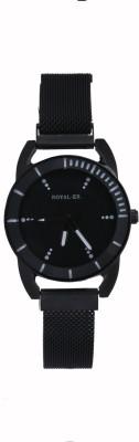 Royalex Black Strap Design Black Dial Analog Woman Girls & Ladies Watch Analog Watch  - For Women