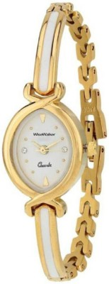 WiseWalker WWWQZ3017MR Party Look Edition White Dial Gold Strap Analog Watch  - For Women