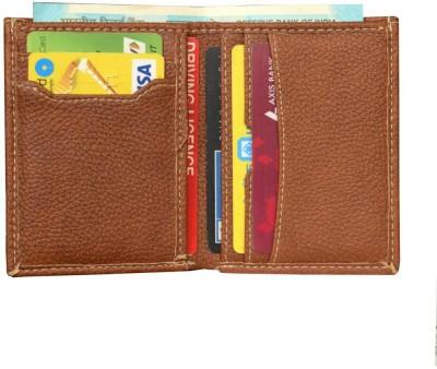 MATSS Matss Genuine Tan Leather||Unisex Travel Organiser||Debit & Credit Holder 7 Card Holder(Set of 1, Tan)