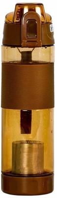 Perclution Enterprise 600 ml Water Purifier Bottle(Brown)