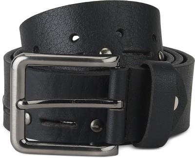 Spykar Men Casual Black Genuine Leather Belt
