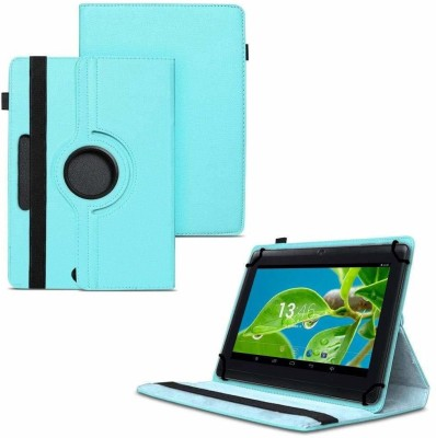 TGK Flip Cover for Datawind Ubislate 7W Tablet 7 inch with 360 Degree Rotating Leather Case(Blue, Shock Proof)