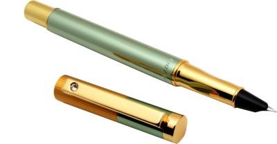 Ledos Luoshi 3207 Apple Green & Gold Mirror Hooded Fine Nib Fountain Pen
