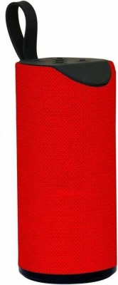 Azacus Splash-Proof Bluetooth Speaker with Inbuilt Mic, USB, TF Card 5 W Bluetooth Speaker(Red, Stereo Channel)