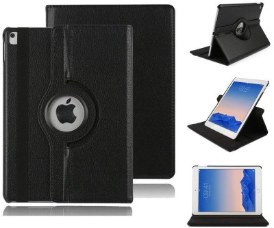 TGK Book Cover for Apple Ipad 6, Ipad Air 2 A1566, A1567 Rotating Leather Smart Case Cover Stand Auto (Sleep/Wake)(Black, Cases with Holder)