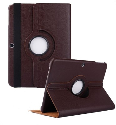 TGK Book Cover for Samsung Galaxy Tab 4 10.1 Inch Sm-T530, T531, T535, T537 360 Degree Rotating Leather Smart Case(Brown, Cases with Holder)