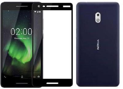 Mobizworld Edge To Edge Tempered Glass for Nokia 2.1(Pack of 1)