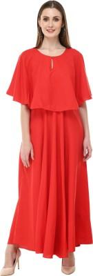 Rudraaksha Women A-line Red Dress