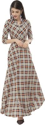 Rudraaksha Women Maxi Multicolor Dress