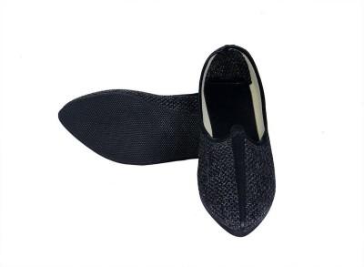 Rajsahi Mojaris For Men Navy Rajsahi Ethnic Shoes