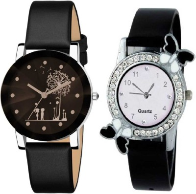 Rd ytr DS-508 New Design Analog Watch Black Dial Prism Glass Black Leather Strap Analog DS-508 New Design - For woman DS-508 Analog Watch  - For Girls