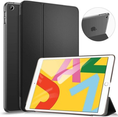 Helix Book Cover for iPad 7 (10.2-Inch, 2019 Model, 7th Generation)(Black, Grip Case)