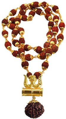 Shiv Omkar Religious Jewelry Loard Shiv Trishul Damru Locket Wood Locket Set