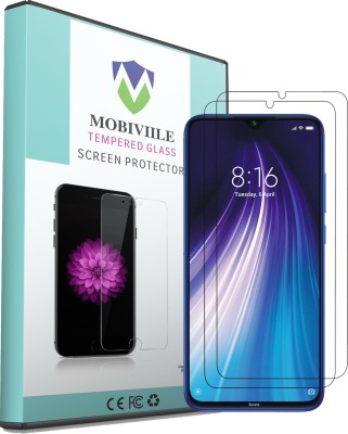 MOBIVIILE Tempered Glass Guard for Xiaomi Redmi Note 8(Pack of 2)