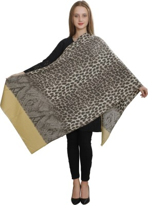 LOOM LEGACY Acrylic, Wool Woven Women Shawl(Multicolor)