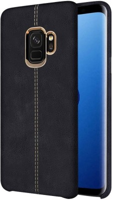 TGK Back Cover for Samsung Galaxy S9 (Double Stitch Shell with Metallic Logo Display Vorson Leather Case)(Black, Shock Proof)