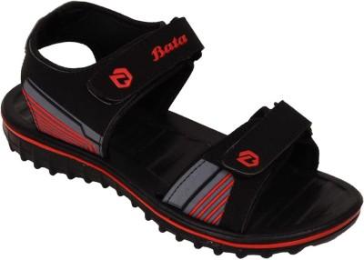 Bata Men Black Flats