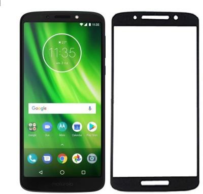 Mobizworld Edge To Edge Tempered Glass for Motorola Moto G6 Play(Pack of 1)