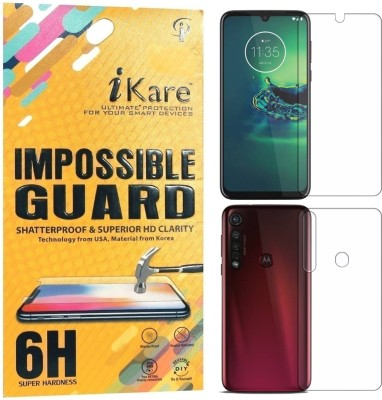 iKare Front and Back Screen Guard for Moto G8 Plus(Pack of 2)