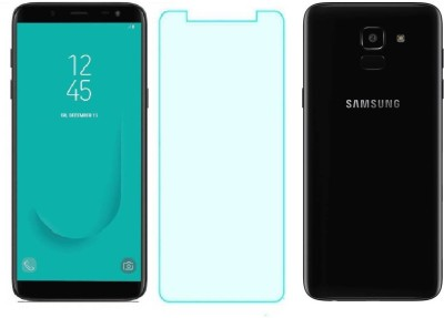 Mobizworld Tempered Glass Guard for Samsung Galaxy J6(Pack of 1)