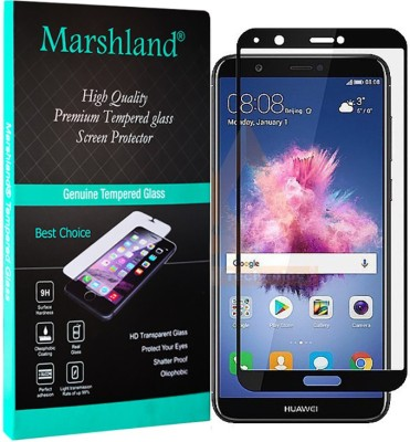 Marshland Tempered Glass Guard for Huawei P Smart Full Glue Full Screen Cover Protector Black 9H Hardness Screen Protector edge to edge Anti-Scratch for Huawei P Smart tempered glass(Pack of 1)