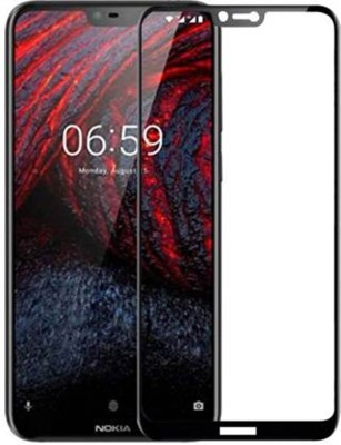 TRUE DESIRE Tempered Glass Guard for 6D Tempered Glass Full Edge-Edge Screen Protection for Nokia 6.1 Plus(Pack of 1)