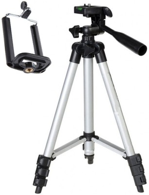 LIFEMUSIC Tripod Stand 360 Degree 3110 Portable Digital DSLR Camera Mobile Stand Holder Camcorder Tripod(Silver, Black, Supports Up to 1500 g) 1