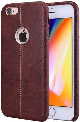 TGK Back Cover for Apple iPhone 8 (Lexza Series Double Stitch Shell with Metallic Logo Display Vorson Leather Case)(Brown, Shock Proof)