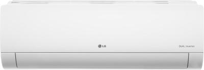 LG 1.5 Ton 4 Star Hot and Cold Split Dual Inverter AC  - White(KS-H18DNYD, Copper Condenser)
