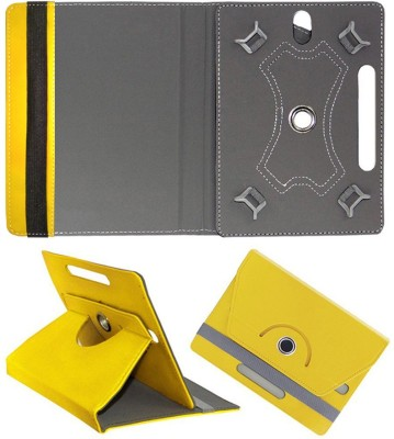 Cutesy Flip Cover for Lava Magnum-XL 10.1 inch 4G Tablet(Yellow, Cases with Holder)