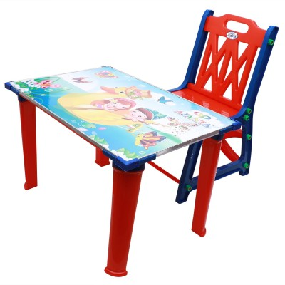 Digionics Plastic Desk Chair(Finish Color - Red)
