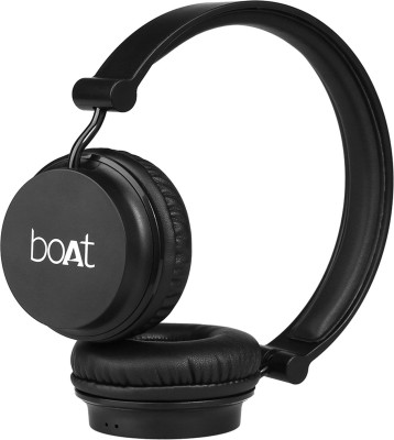boAt Rockerz 400 Super Bass Bluetooth Headset(Carbon Black, On the Ear)