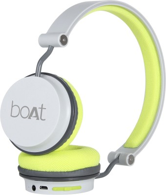 boAt Rockerz 400 Super Extra Bass Bluetooth Headset(Green, Grey, On the Ear)