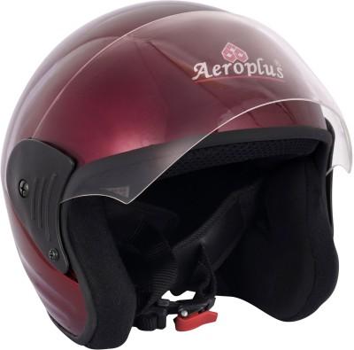 AEROPLUS D 1 WINE RED GLOSSY Half Face Helmet for WOMEN Motorbike Helmet(Red)