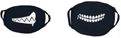 Vritraz Pollution Half Face Mask for Man Woman Drooling SmallZip Anti-pollution Mask(Black, Pack of 2)