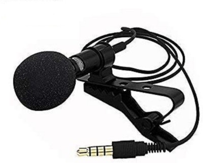 SEA SHELL Collar Mic lav Microphone for Smartphone, DSLR, Laptop (Black) Microphone(Black)