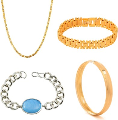 GoldNera Brass, Stainless Steel Jewel Set(Gold, Silver)