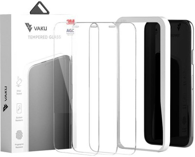 Vaku Edge To Edge Tempered Glass for iPhone 11/iPhone XR(Pack of 3)