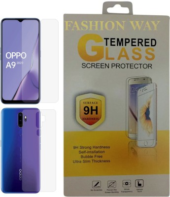 Fashion Way Front and Back Screen Guard for OPPO A9(2020)(Pack of 2)