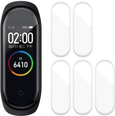 AliCreation Screen Guard for mi band 4(Pack of 5)