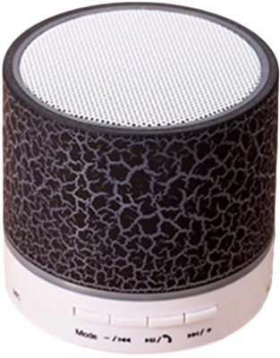 Voltegic ™ S-10 Wireless LED Bluetooth Speakers With Built-In Microphone For Handfree Calling 3 W Bluetooth Speaker(Black, Mono Channel)